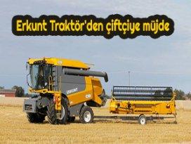 Erkunt Traktörden çiftçiye müjde