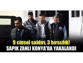 Sapık zanlı, Konyada yakalandı!
