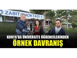 Konyada üniversite öğrencilerinden örnek davranış