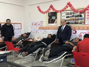 Karapınarda kan bağışı