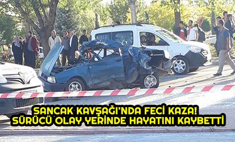 Konyada Sancak Kavşağında feci kaza! Sürücü olay yerinde hayatını kaybetti