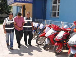 Konyada motosiklet hırsızlığı iddiası
