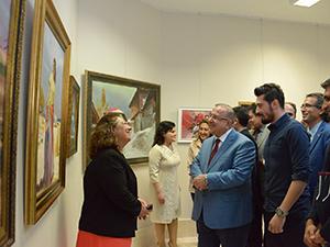 SÜ'de 'Selçuk Sanat Merkezi Resim Sergisi' açıldı