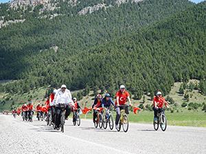 Derebucakta yürüyüş ve bisiklet etkinliği