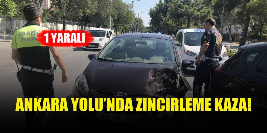 Ankara Yolu'nda zincirleme kaza!