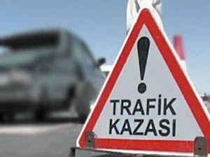 Konyada polis kaza yaptı
