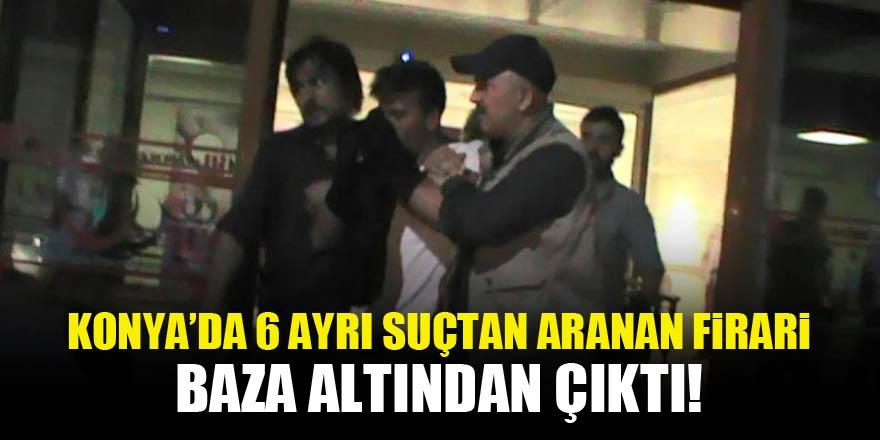 Konyada Cezaevi firarisi baza altında yakalandı