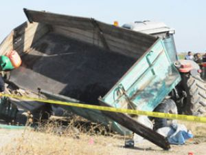 Konyada tren kazası