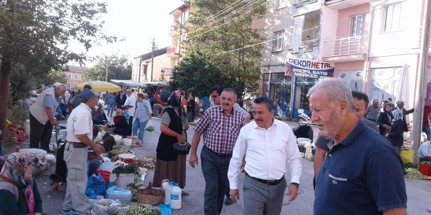 Başkan Tutaldan esnafı ziyareti
