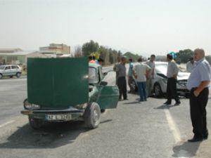Karapınarda kaza:2 yaralı