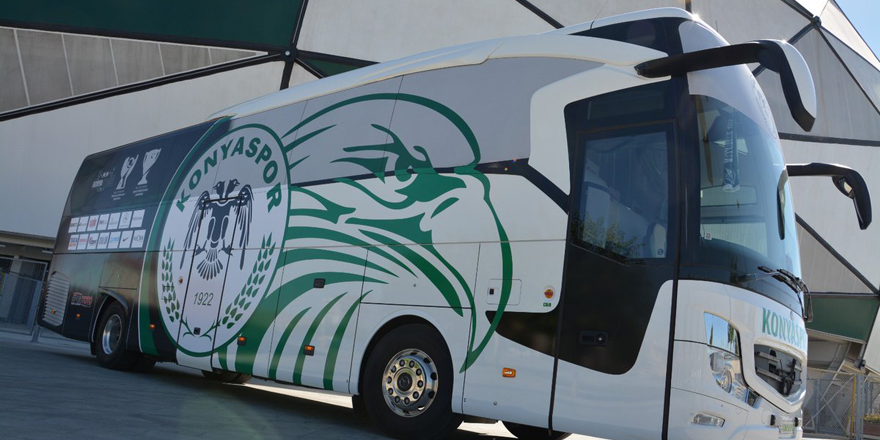Konyaspor otobüsüne yeni giydirme yapıldı!