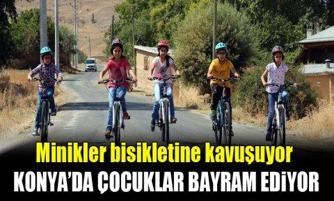 Konya merkezde bisiklet dağıtımı başladı