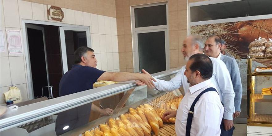 Hacı Ahmet Özdemir'den Meram esnafına ziyaret