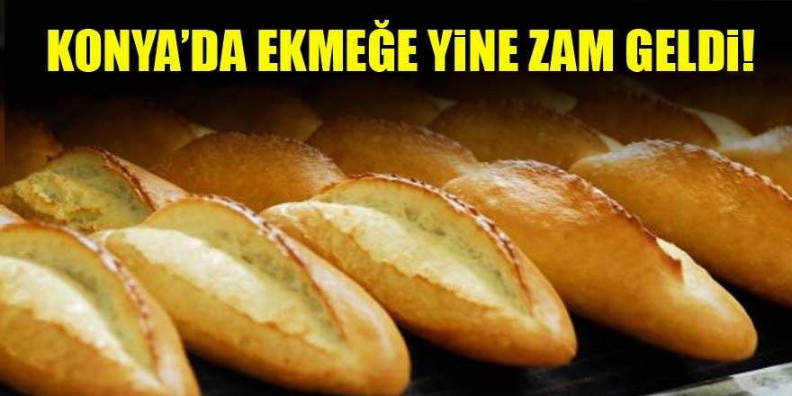 Konya'da ekmeğe yine zam geldi