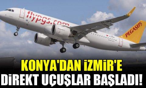 Konyadan İzmire direkt uçuşlar başladı!