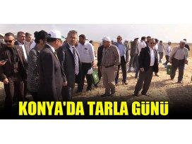 Konyada tarla gününde çiftçiler bilgilendirildi