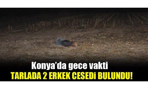 Konyada gece vakti tarlada 2 erkek cesedi bulundu!