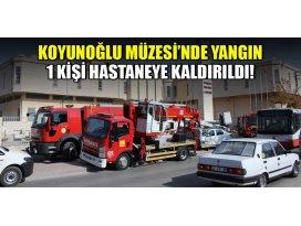 Konyada müzede yangın