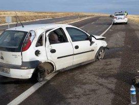 Konyada otomobil takla attı: 1 yaralı