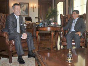 Metin Şentürk, Bakan Davutoğlunu güldürdü