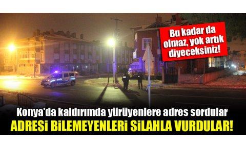 Konyada kaldırımda yürüyenlere adres sordular, adresi bilemeyenleri silahla vurdular!