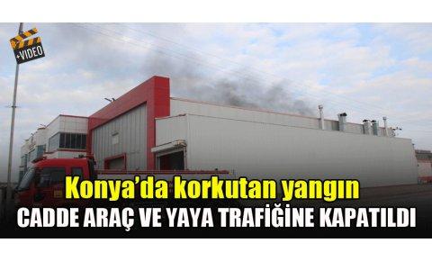 Konyada akaryakıt tankı fabrikasında korkutan yangın