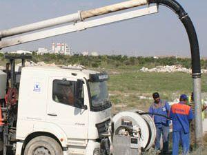 Kanalizasyon Şebeke temizliği devam ediyor