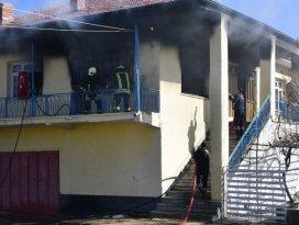 Konyada ev yangını: 1 yaralı