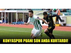 Konyaspor puanı son anda kurtardı!