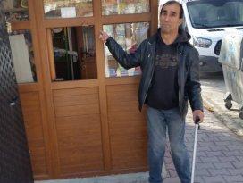 Engelli vatandaşın büfesi soyuldu