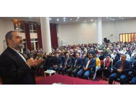 Abdurrahman Büyükkörükçü, Bozkırda konferans verdi