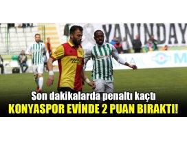 Son dakikalarda penaltı kaçtı, Konyaspor evinde 2 puan bıraktı!