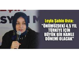 Önümüzdeki 4,5 yıl Türkiye için büyük bir hamle dönemi olacak