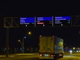 Konya trafiğini rahatlatacak akıllı ekranlar test ediliyor