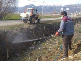 Seydişehir Belediyesinden larva mücadelesi