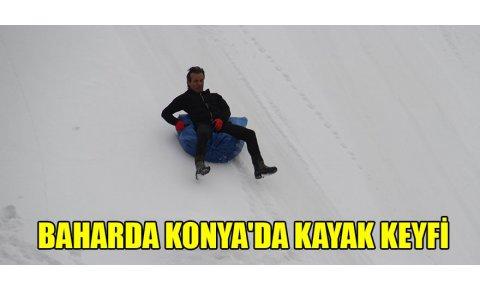 Baharda Konyada kayak keyfi