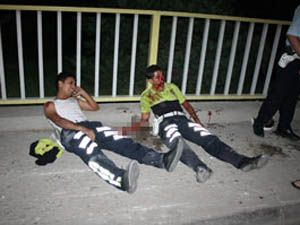 Konyada trafik polisleri kaza yaptı