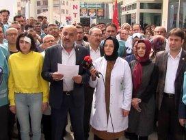Konyada sağlık çalışanına şiddete tepki