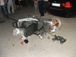 Seydişehir'de motosiklet kazası korkuttu