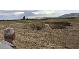 Karapınar'dan sonra Karaman'da da obruklar oluşmaya başladı