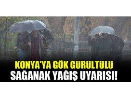 Konyaya gök gürültülü sağanak yağış uyarısı!