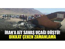 İrana ait savaş uçağı düştü! Dikkat çeken zamanlama