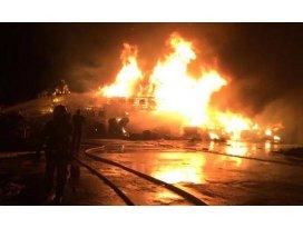 Denizlide yanan atık tesisinde zarar 500 bin lira