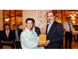 Kardeş Şehir Gangneung Belediye Başkanı Başkan Altay'ı Ziyaret etti