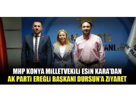 Esin Karadan AK Parti Ereğli İlçe Başkanı Dursuna ziyaret