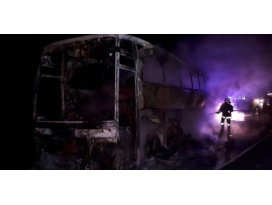 Otobüs yandı; 40 yolcu son anda kurtarıldı