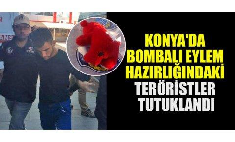 Konyada bombalı eylem hazırlığındaki YPG/PKKlı teröristler tutuklandı