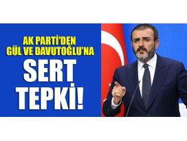 AK Partiden Gül ve Davutoğlu'na sert tepki!