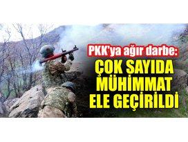 PKKya ağır darbe: Çok sayıda mühimmat ele geçirildi