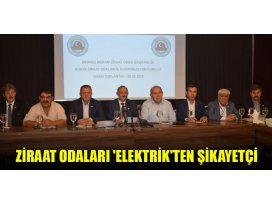 Ziraat Odaları elektrikten şikayetçi